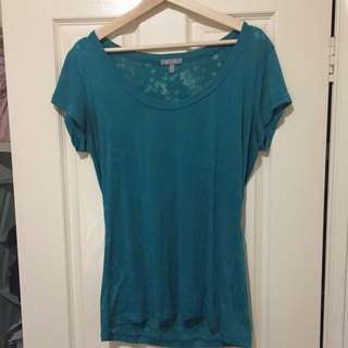 Floral Turquoise Burnout Tshirt XL(UK14)
