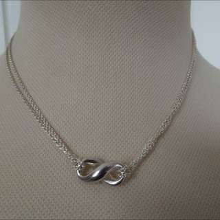 Tiffany & Co Infinity Double Chain Necklace Authentic