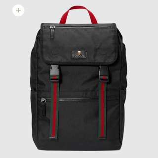 Gucci technical canvas backpack (Gucci帆布背包)