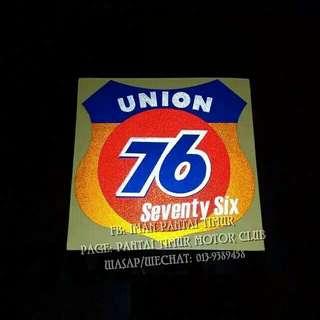 UNION 76... ※Pantul cahaya. ※Computer cutting. ※※Rm9