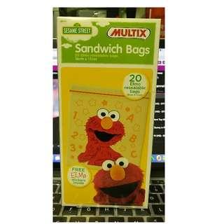 Elmo Sandwich Ziplock Bags (Limited Edition)