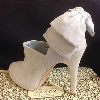 Randa淺灰色踝靴,LL號(24~24.5可穿)