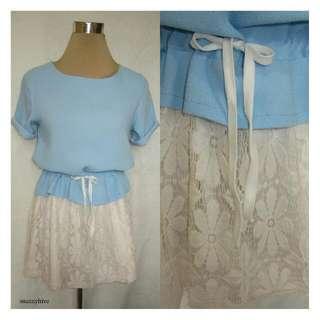 Drawstring Lace Dress
