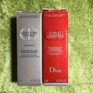 Dior逆時光完美再造精華+極致復活精華