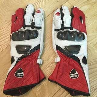 Ducati真皮長手套  重機