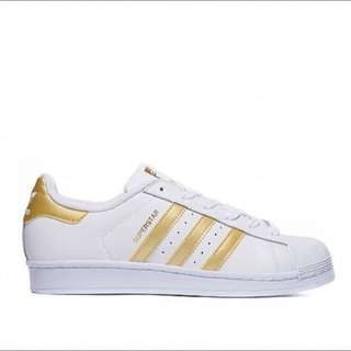 [PO] Adidas Superstar White/Gold