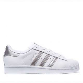 [PO] Adidas Superstar White Metallic Silver