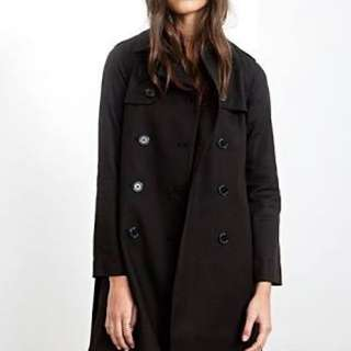 Forever 21 Black Trench Coat