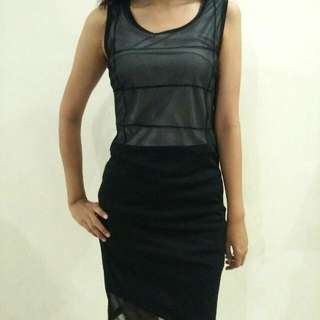 Dress Black With Furing