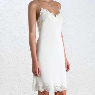 Zimmermann Cream Slip Dress