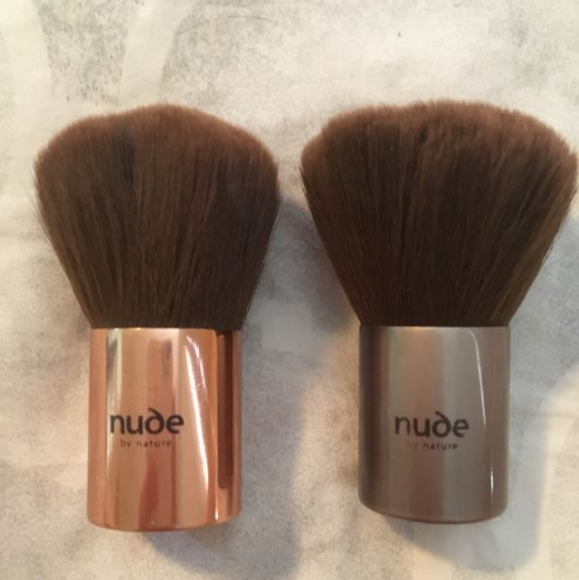 2 X Nude By Nature Kabuki Brushes
