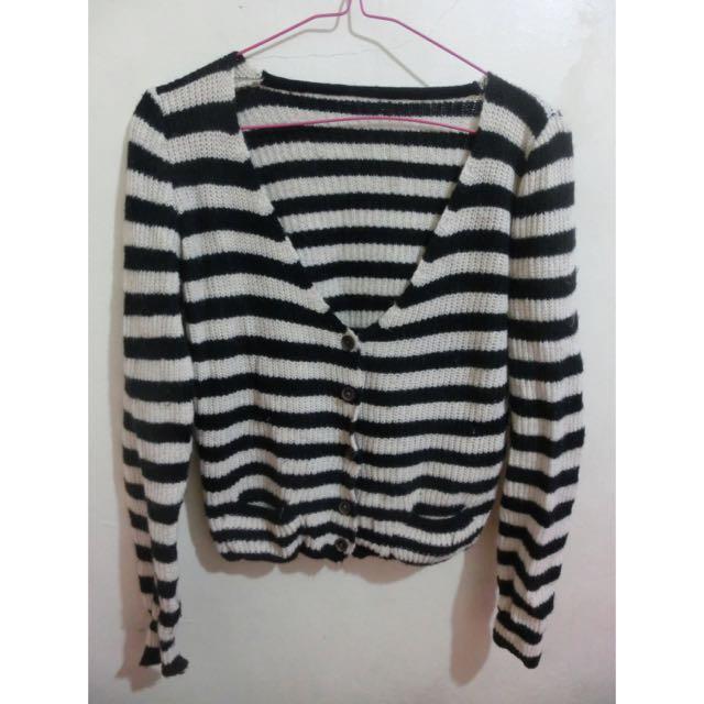 橫條針織毛衣/橫條針織外套