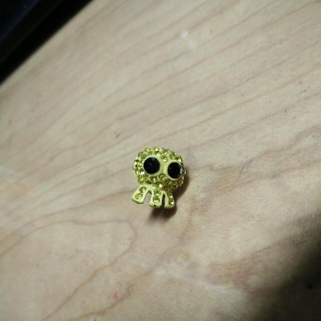 單隻骷髏耳環