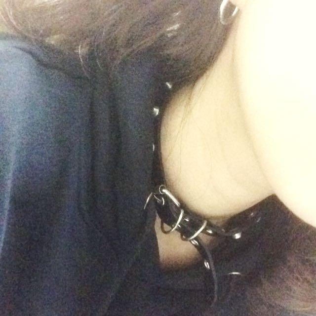 龐克 皮革 頸鍊