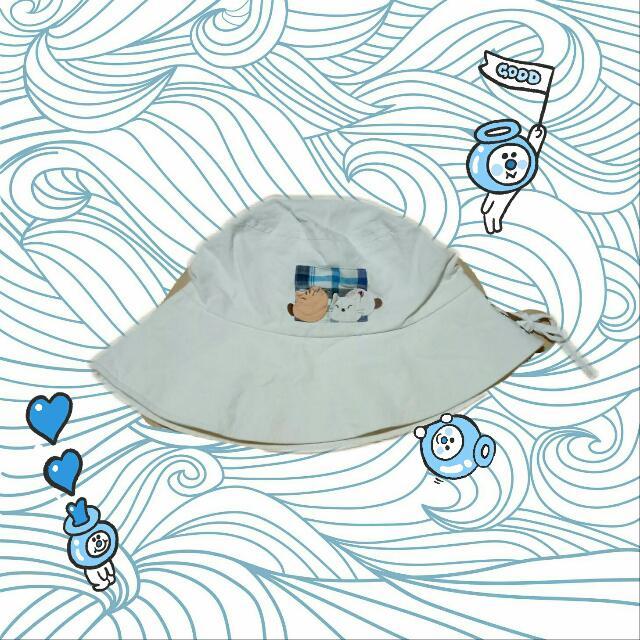 白色 蝴蝶結 漁夫帽 卡啦貓 CARA CAT