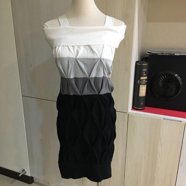 降價~專櫃 正品 BIGI 顯瘦 針織 露肩 洋裝
