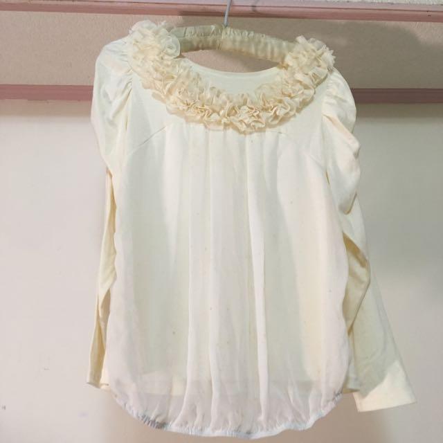 出售 韓系淑女上衣👗(白) NTD.80/元(不含運費/北市面交)