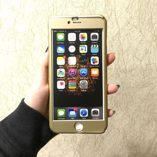 全新 iphone6s+ 全包手機殼 附鋼化膜