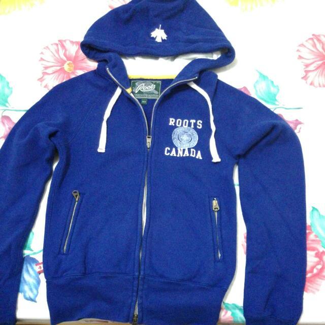 二手 Roots藍色合身外套