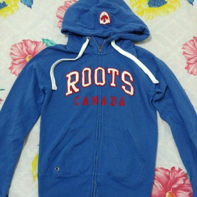 二手 Roots淺藍色合身外套