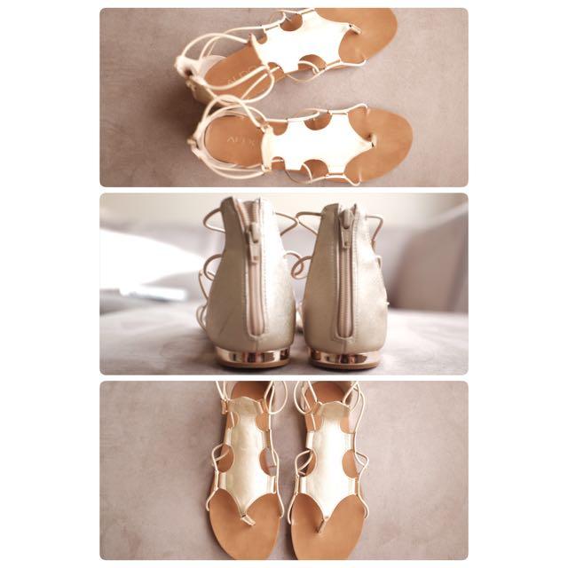 ALDO Gold Caged Sandals