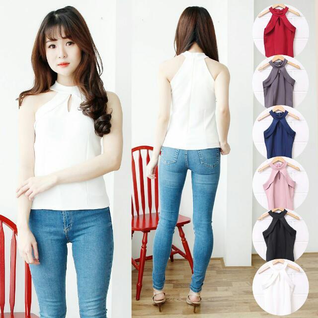 Baju Atasan Wanita Murah/Atasan Korea Import - Rosemary Top