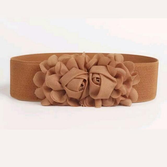 Belt Brown Flower