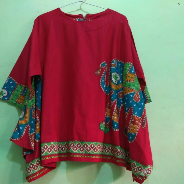 Blouse Elephant Red