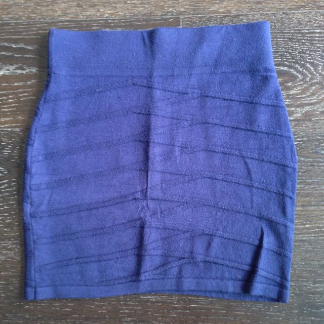 Blue Fitted Skirt Size XS