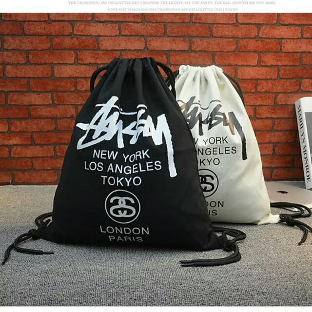 b7e5aa5e9 Brand New Supreme/Stussy/BAPE Drawstring Bags !, Men's Fashion, Bags &  Wallets on Carousell