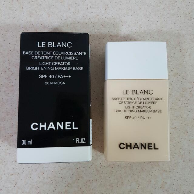 39688c10fbf Chanel Le Blanc Light Creator Brightening Makeup Base