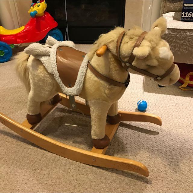 Children Vintage Rocking Horse With Sound