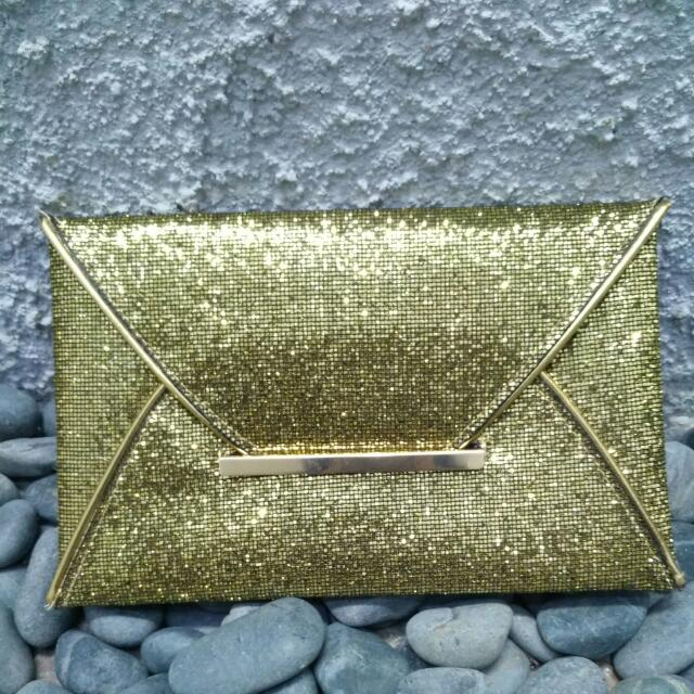 Clutch Pesta Gold - Emas