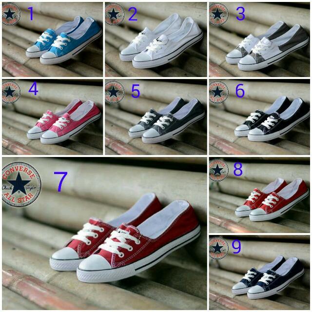 f139a87f3417fb Converse 3 Hole Women Sepatu Sneakers Cewek