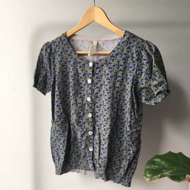 Cute Short Sleeve Blouse