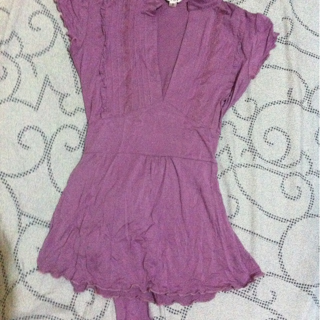 DEI old rose blouse/top