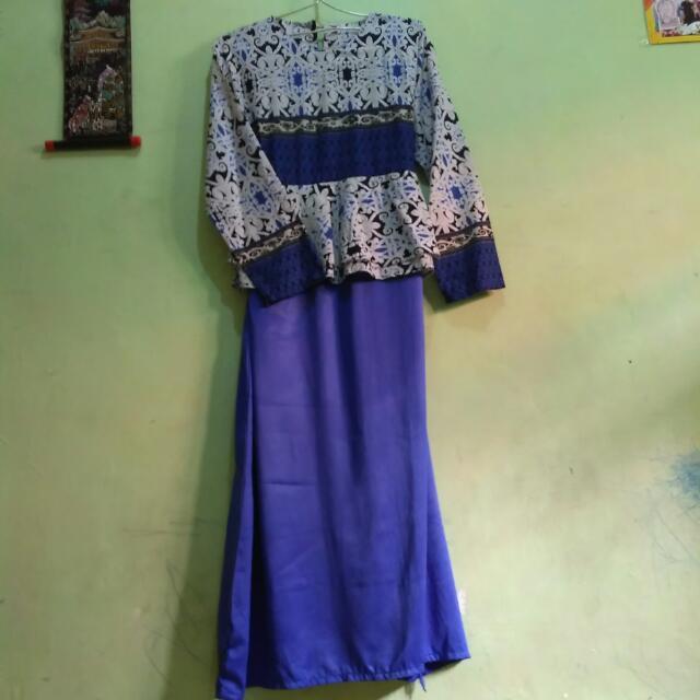 Dress Peplum Batik
