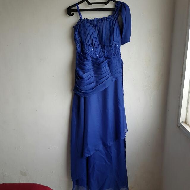 Dress Pesta Biru
