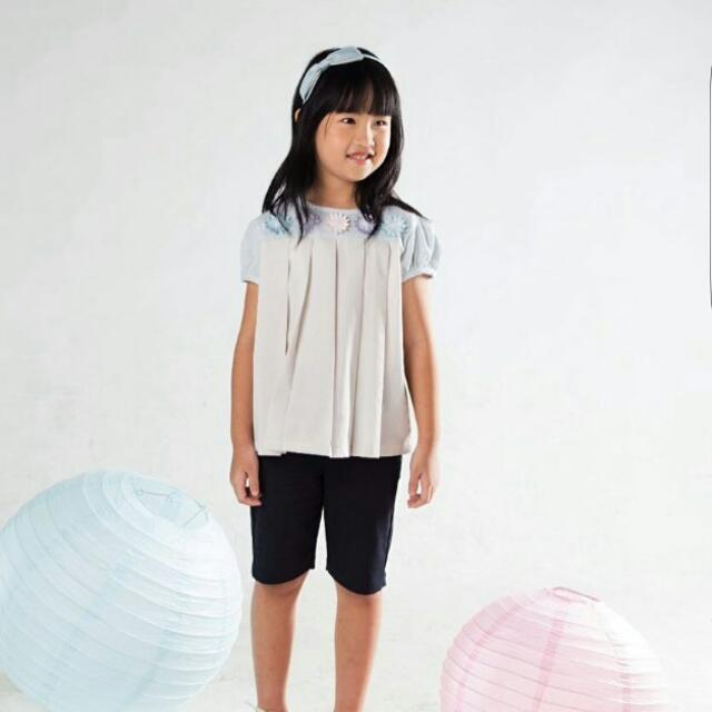Flower Pleated Top