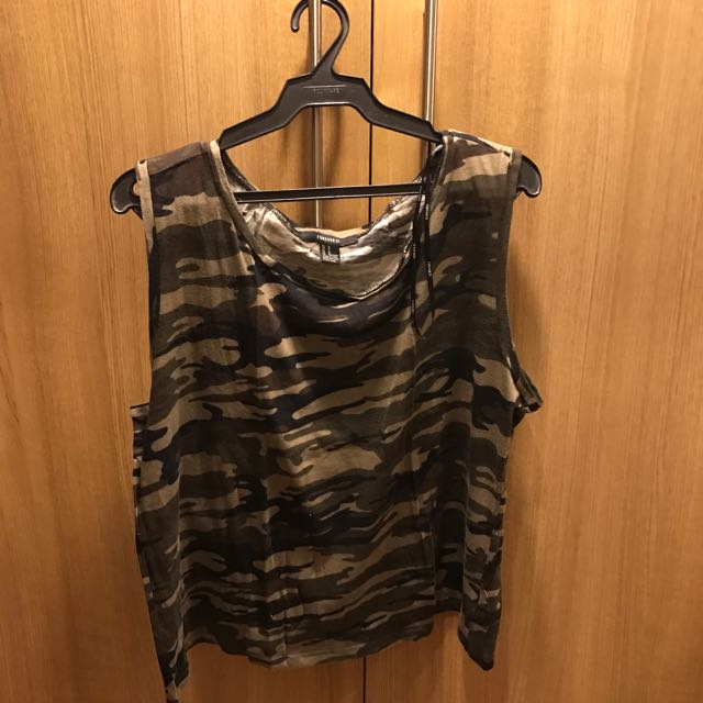 Forever 21 Camo Muscle Top