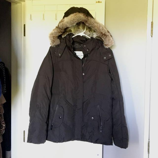 General Issue Winter Jacket w Faux Fur Trim Hood - Size 10