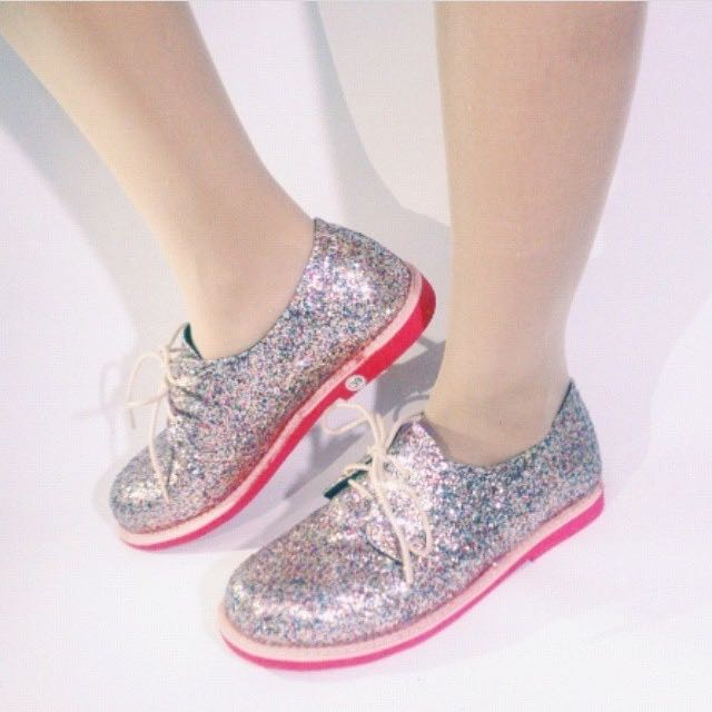 Glitter Silver Pink Shoes