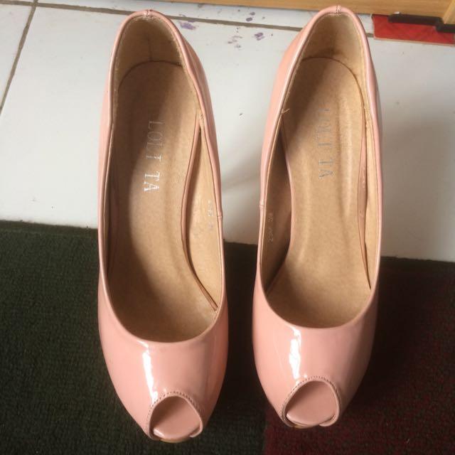 heels lolita pink nude