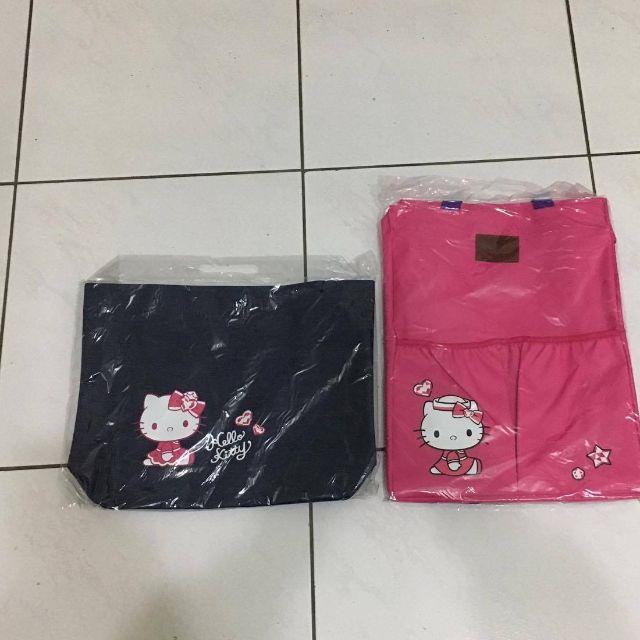 Hello Kitty丹寧托特包+ 桃紅後背包