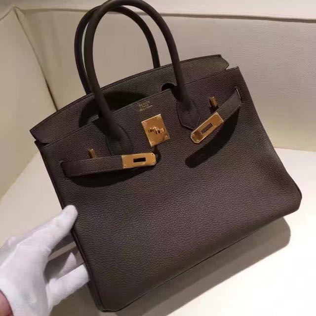 4ad701f240a Hermes Birkin 30 Etoupe Grey Togo Gold Hardware Q Stamp, Luxury, Bags &  Wallets on Carousell