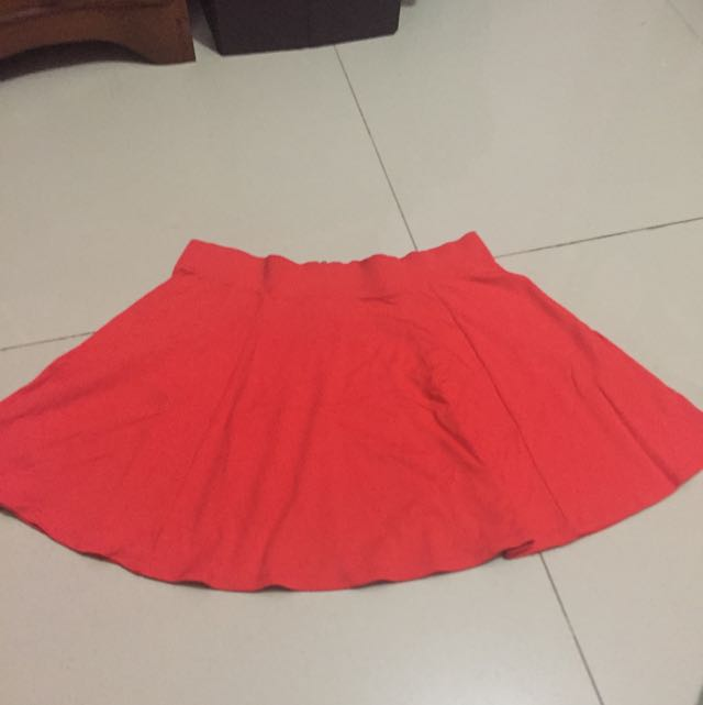 H&M Flare Skirt Orange