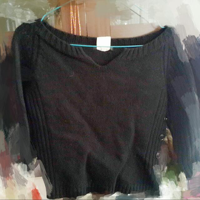 iCB 短款七分袖毛衣