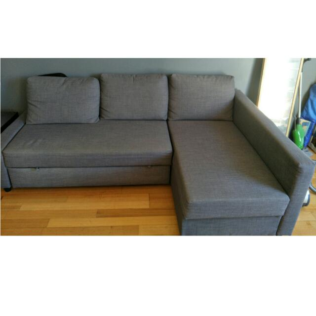 (pending Pickup)Ikea Sofa Bed With Storage