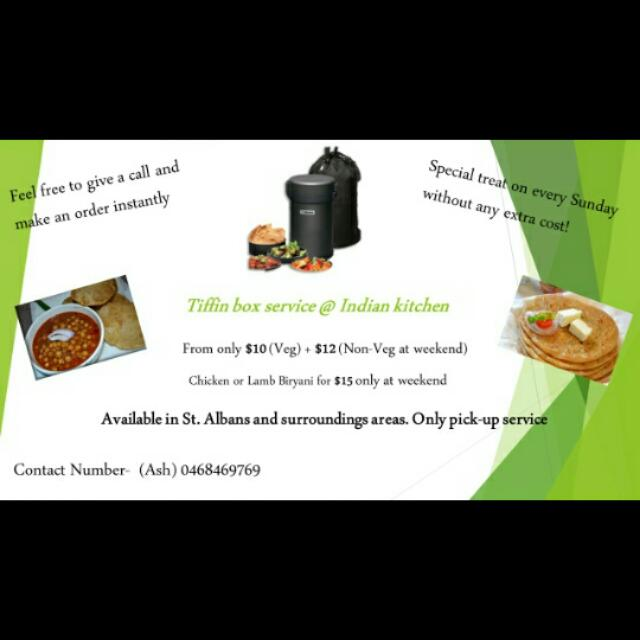 Indian Tiffin Box Service For only $10!!