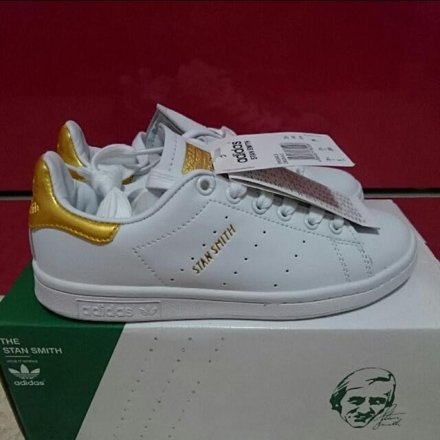 various colors 736b2 0bb43 [INSTOCK] Adidas Stan Smith Gold Edition 24k